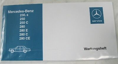 Original Mercedes-Benz Wartungsheft Baureihe /8 W114/W115 230.6-280CE