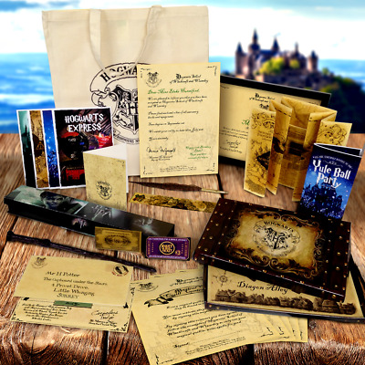 Harry Potter Ultimate Set Diagon Alley Wand Hogwarts Letter Quill More