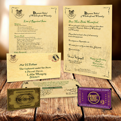 Harry Potter Hogwarts Personalised Acceptance Letter Special Personalised Xmas