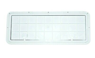 "DPI Marine 13/"" x 36/"" Flush Series Hatch//Door Polar White Bright-White"