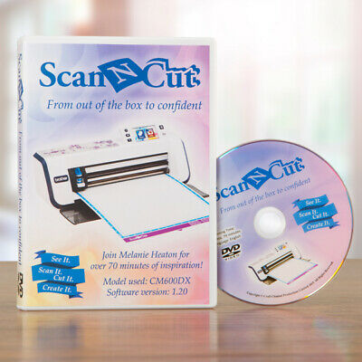 BROTHER Scan N Cut TUTORIAL DVD By Craft Channel Productions - 70 Minutes