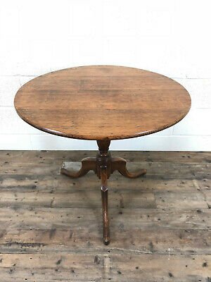 18th Century Georgian Oak Tilt Top Table - Delivery Available