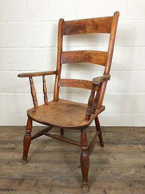 Late 19th Century Double Bar Back Armchair - Delivery Available