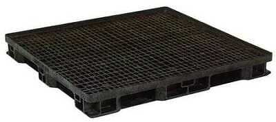 ZORO SELECT 45X48 JOURNEY BLK Pallet,Stackable,Full 4-Way,4,000 lb.