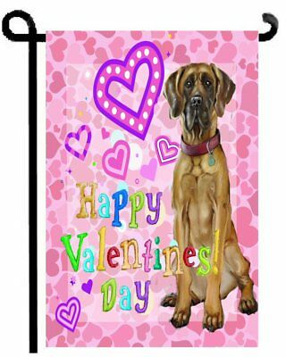 Great Dane VALENTINE painting GARDEN FLAG dog Valentine's day