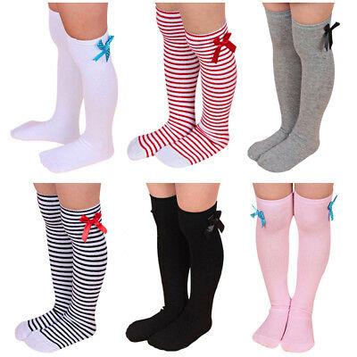 0-3Y Baby Toddler Girl Cotton Knee High Sock Tights Leg Warmer Stockings Vintage