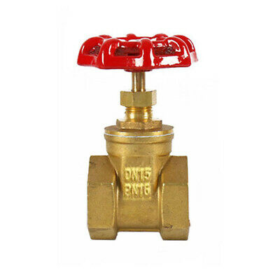 "BRASS Gate Valve With Red Handle Female to Female DN15-32 1/2""-(5/4)"" BSP US"