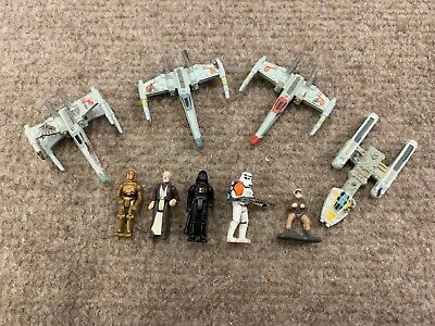 Star Wars Micro Machines Figure Lot Darth Vader Ships C3P0
