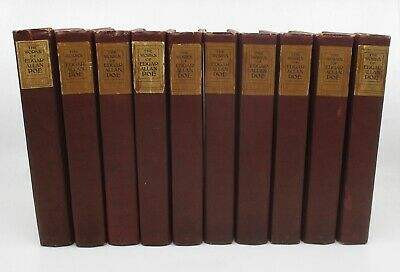 THE COMPLETE WORKS OF EDGAR ALLAN POE ~ Library Edition ~ 10 Volumes 1908