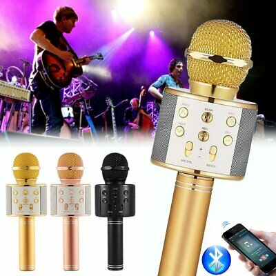 WS858 Wireless Bluetooth Microphone Karaoke KTV Handheld Mic USB Speaker Player