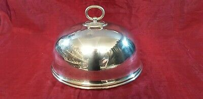 An Antique Victorian Silver Plated Food Cloche By Atkin Brothers.sheffield.
