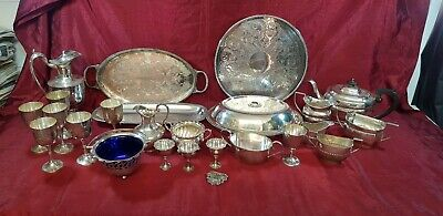 A  Job Lot Of Beautiful Antique/vintage Silver Plated Items.many Makers names.