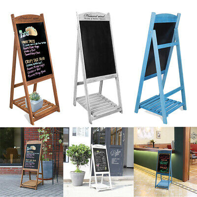 Magnetic A-Board Frame Chalkboard Pavement Sign Standing Poster Display Floor