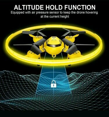 Hasakee Q8 FPV Drone With Hd Camera 720P and Night Light RC Drone Quad (Yellow)