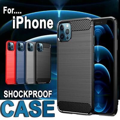 For iPhone 7 8 X XS Max XR Heavy Duty Hybrid Shockproof Tough Rubber Case Cover