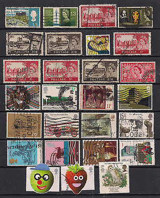 GB QE2 1953 onwards Selection of 27 stamps various conditions ( A163 )