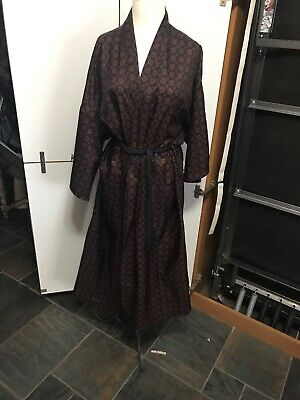 Men's Vintage Bill Blass One Size  Printed Robe Dressing Gown