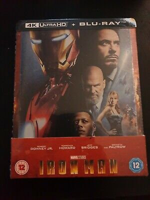 Iron Man 4K Ultra HD (includes 2D Blu-ray) Zavvi Exclusive Steelbook soldout