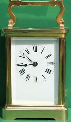Couaillet Freres 8 Day Time Piece Corniche Carriage Clock Duberdry And Bloquel