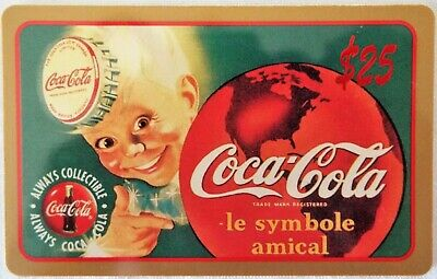 "COCA-COLA 1995 Sprint/Score Board $25 Phone Card ""le symbole amical"" Sprite Boy"
