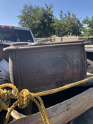 Vintage Cast Iron Steel King Wood Stove Furnace