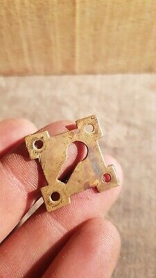 Antique Reclaimed Decorative Brass Box Escutcheon Key Hole Lock Cover