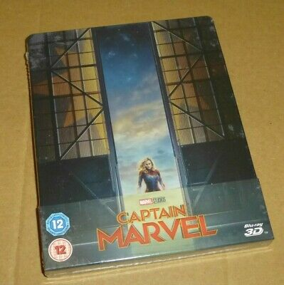 CAPTAIN MARVEL - 3D, 2D Blu-ray, UK STEELBOOK Limited Edition, *In Stock