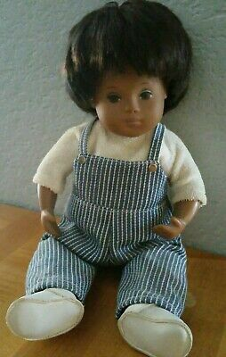Vintage Baby Sasha Doll Original Overalls Outfit & Shoes