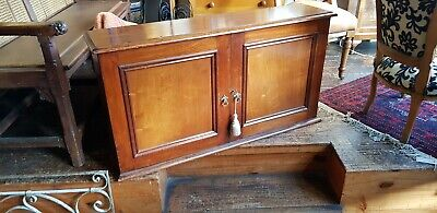 Price Drop Cedar Stationery Cabinet Antique Pigeon Holes Desk Top Sth Melb