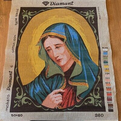 Diamant UNWORKED Tapestry Needlepoint Canvas, Virgin Mary - 38 x 49cm