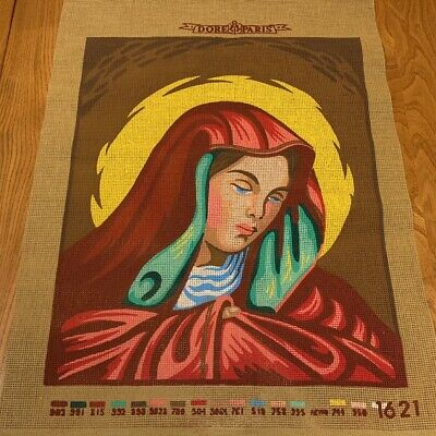 UNWORKED Cotton Tapestry Needlepoint Canvas, Virgin Mary - 36 x 46cm