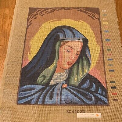 UNWORKED Cotton Tapestry Needlepoint Canvas, Virgin Mary - 35 x 47cm