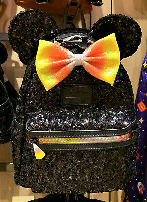 Disney Parks Halloween Candy Corn Minnie Mouse Backpack Loungefly New In Hand