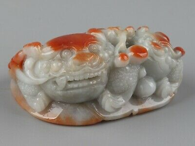 Chinese Exquisite Hand-carved Three-legged toad Carving jadeite jade Pendant
