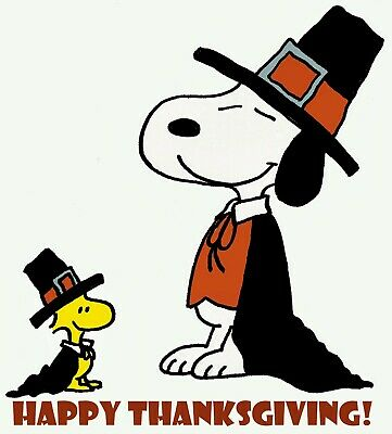 Snoopy Happy Thanksgiving Iron On Transfer For T-Shirt & Light Color Fabrics #37