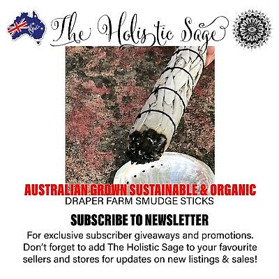 Aussie Grown Sustainable Large Organic Smudge Stick Incense Meditation Cleansing