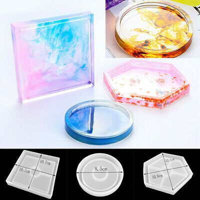 3x DIY Silicone Mold Coaster Resin Casting Jewelry Making Epoxy Mould Craft Tool