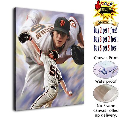"""Baseball player Picture HD Canvas Print Painting Home Room Decor Wall art12""""x14"""""""