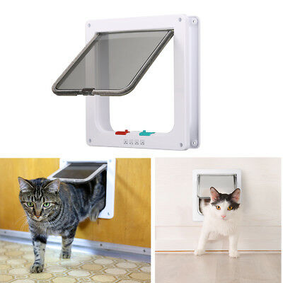 4 Way Safety Locking Pet Flap Cat Door For Interior Doors Exterior Doors For Cat
