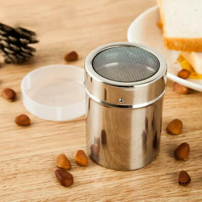 Stainless Steel Chocolate Cocoa Flour Shaker Icing Sugar Powder Coffee  EWF