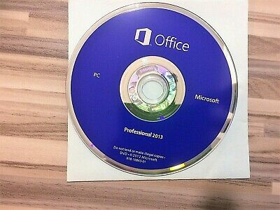DVD📀 hologramme Microsoft® Office™ 2013 Professional sans licence pour PC