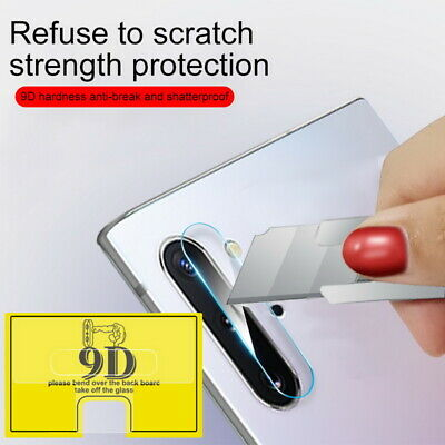 For Samsung S9 S8 Note 10 Plus J4 J6 9D Camera Lens Tempered Glass Protect Film