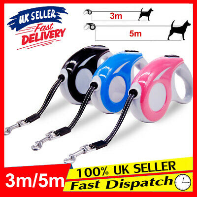 5M 3M Walking Lead Dog Pet Leash Heavy Duty Automatic Retractable Traction Rope