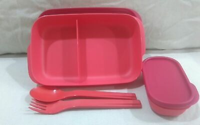Tupperware  New  My  Lunch box 1  Piece   with 1 set  Cutlery