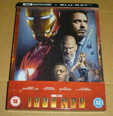 IRON MAN - 4K Ultra HD + Blu-ray, UK Exclusive STEELBOOK, Marvel *Read Desc.