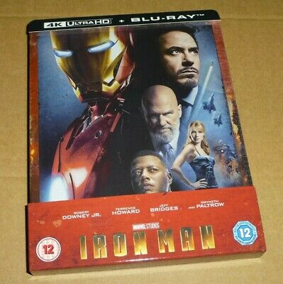 IRON MAN - 4K Ultra HD + Blu-ray, UK Limited Edition STEELBOOK, Marvel, in stock