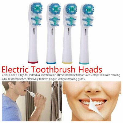 4pcs Compatible Electric Toothbrush Head Dual Clean Replacement Tooth Brush Head