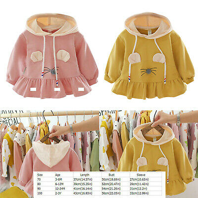 Baby Girl Kids Spring Autumn Clothes Long-Sleeves Cartoon Hoodie Cute Sweatshirt