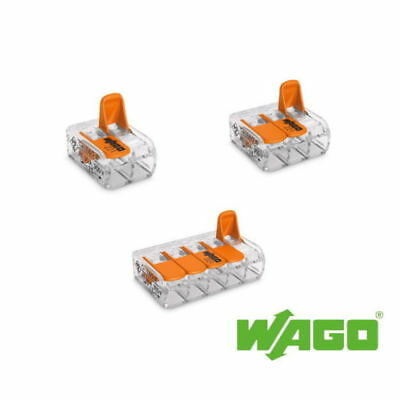 Wago 221 Series Reusable Electrical cable Connectors UK Stockist