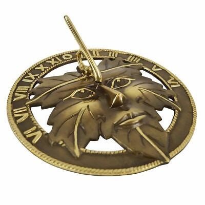 Antique Brass Greenman Sundial